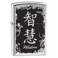 Зажигалка Zippo 28066 CHINESE WISDOM (Китайский символ мудрости)