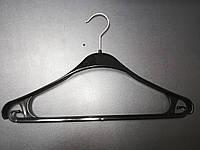 Плечики вешалки тремпеля Турок черного цвета блеск, длина 40 см, фото 1