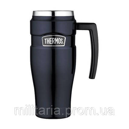 Термокружка Thermos Stainless King Travel Mug, Midnight Blue, 470 ml 160030, фото 2