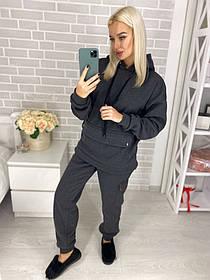 Женский утепленный спортивный костюм / трехнитка с начесом / Украина 44-0190