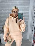 Женский утепленный спортивный костюм / трехнитка с начесом / Украина 44-0190, фото 4