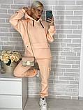 Женский утепленный спортивный костюм / трехнитка с начесом / Украина 44-0190, фото 3