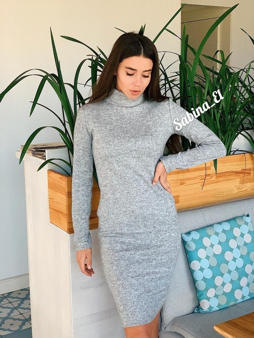 Комфортное и теплое платье-гольф из ангоры