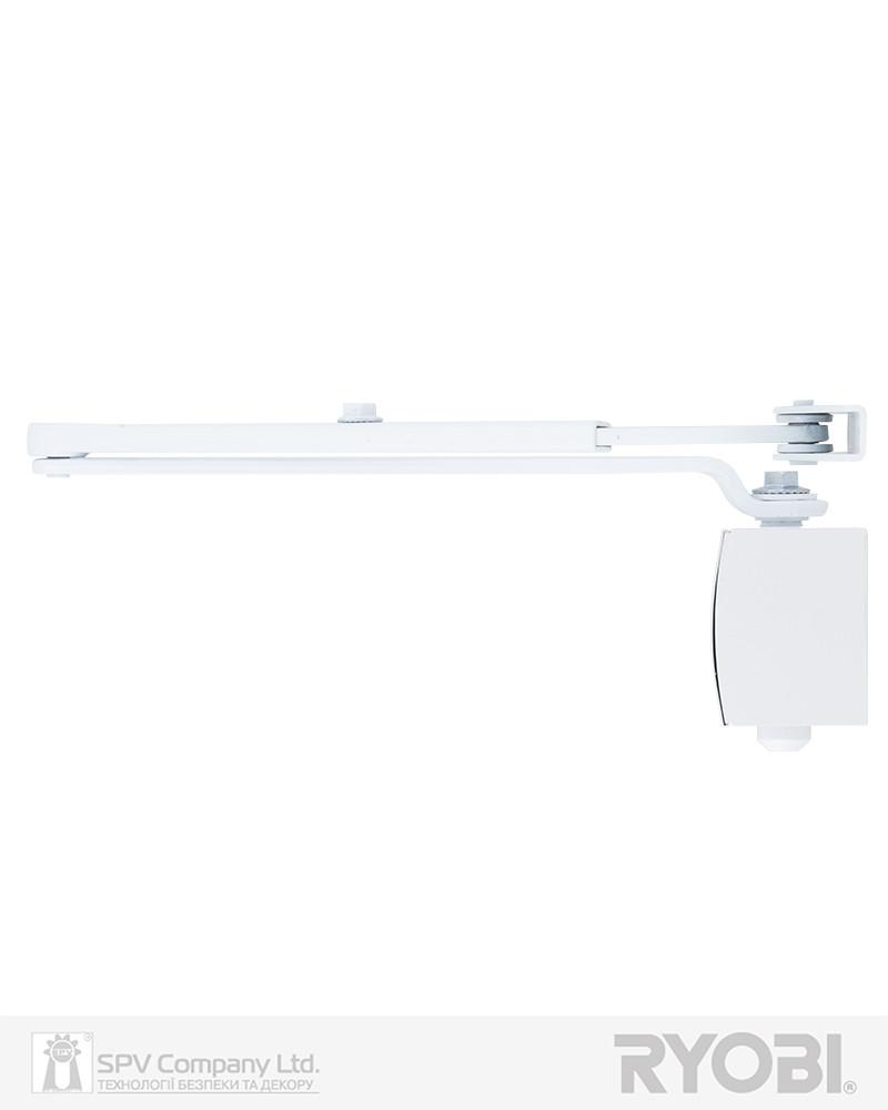 Доводчик для дверей накладного типа RYOBI 1200 D-1200 WHITE STD_ARM EN_2/3/4 80кг 1100мм