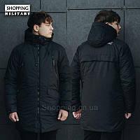 Парка куртка зимняя мужская черная Стафф Staff hender black