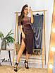 Роскошное мерцающее платье миди из люрекса.с разрезом и открытыми плечами, фото 10