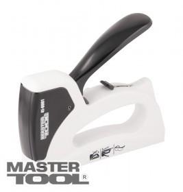 MasterTool  Степлер рессорный для скобы 6-14 мм 11,3*0,7мм, регулировка силы удара, корпус пластик/металл, Арт.: 41-0901