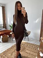 Вязаное платье-резинка