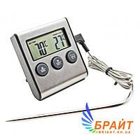 Термометр таймер ТP-700 с выносным датчиком (нержавейка) для духовки с магнитом