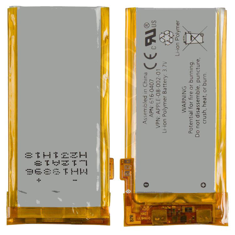 Аккумулятор (батарея, АКБ) для iPod Nano 4G, #616-0407, оригинал