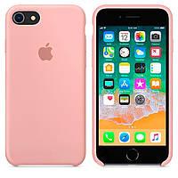 Чехол Silicone Case для Apple iPhone 7, iPhone 8 Светло - Розовый