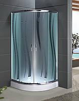 Кабина душевая полукруглая 1001 R ECO (100х100х195)/ стекло ROLA/ поддон - 15см