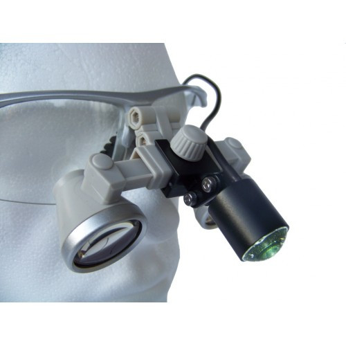 Бинокулярный увеличитель ECMG-3,0x-RD ErgonoptiX микро Галилея с осветителем D-Light micro XL и УФ фильтр
