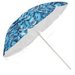 Зонт пляжный d1.8м, серебро, MH-0037