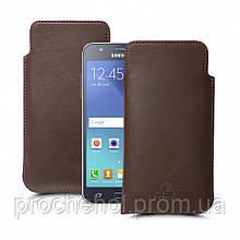 Футляр Stenk Elegance для Samsung Galaxy J7 Коричневый