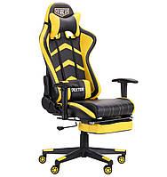 Кресло VR Racer Dexter Megatron черный/желтый, TM AMF