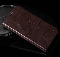 Чехол книжка для Lenovo S850 цвет коричневый