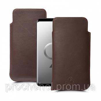 Футляр Stenk Elegance для Samsung Galaxy S9 Коричневый