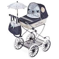 """Детская кукольная коляска складная с сумкой и зонтом DeCuevas """"РОМАНТИК"""" 81020 классика, синяя"""
