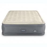 Надувная велюр-кровать Intex 64926 152х203х46 см встроенный электронасос
