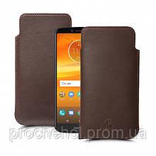 Футляр Stenk Elegance для Motorola Moto E5 Plus Коричневый