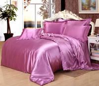 Постельное белье Атлас Лиловый Комплект постельного белья полутороспальный, евро, двуспальный
