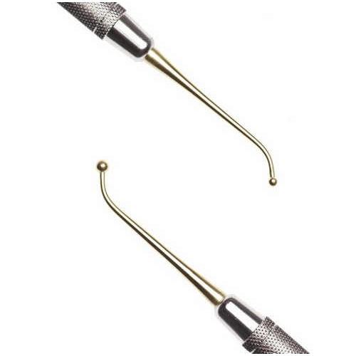 Двусторонний пуговичный штопфер 18 с силиконовой ручкой, N2006-S NOVA