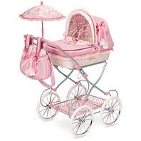 """Игрушечная коляска для куклы раскладная с зонтом DeCuevas """"МАРТИНА"""" 81026 розовая"""