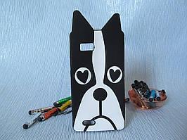 Силиконовый объемный 3D бампер чехол для Lenovo A788t Собака