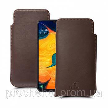 Футляр Stenk Elegance для Samsung Galaxy A30 Коричневый