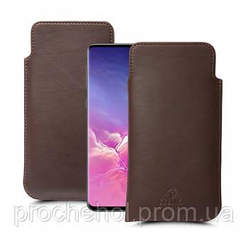 Футляр Stenk Elegance для Samsung Galaxy S10 Коричневый