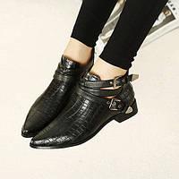Короткие ботинки с острым носком, 2 цвета