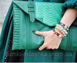 зеленая сумочка клатчем