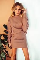 Костюм Барби женский стильный теплый вязаный свитер и юбка разные цвет Kdi1122