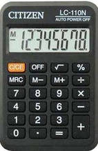 Калькулятор Citizen LC-110 N, кишеньковий, 8 р. 7,5*10