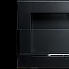 Биокамин GLOBMETAL 900x400 черный матовый со стеклом, фото 6