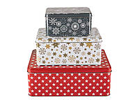 F1-00417, Набор коробок для печенья (3 шт), , красный-белый