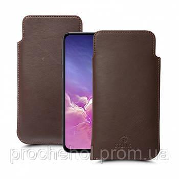Футляр Stenk Elegance для Samsung Galaxy S10e Коричневый