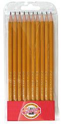 Карандаш графитный, НB, 1570.HB/10P