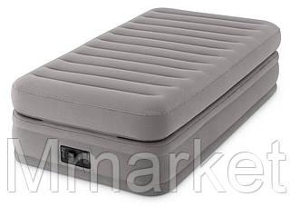 Надувная кровать Intex 64444 99х191х51 см встроенный электронасос