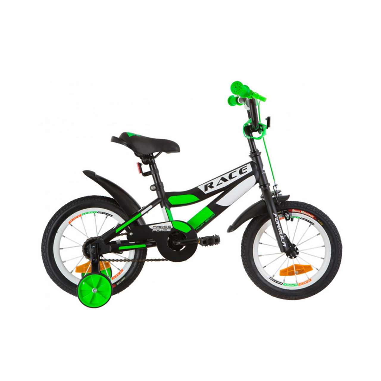 """Велосипед 16 Formula JEEP 14G рама-8,5"""" St чорно-солотний с крылом Pl 2019"""