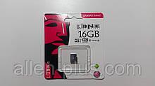 Карта памяти Kingston microSDHC Class 10, 16GB