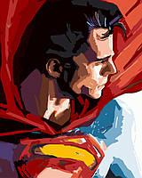 """Картина по номерам BrushMe Премиум """"Супермен"""" 40х50см в подарочной упаковке PGX8733"""