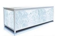 Экран под ванну 140 см, голубой лед, пластиковый каркас