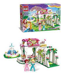 Конструктор BRICK розовая серия, сад, фонтан, 261дет, 2602