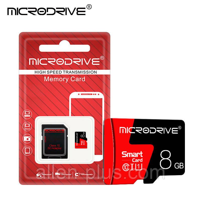 Карта памяти MicroDrive microSDHC Class 10, 8GB