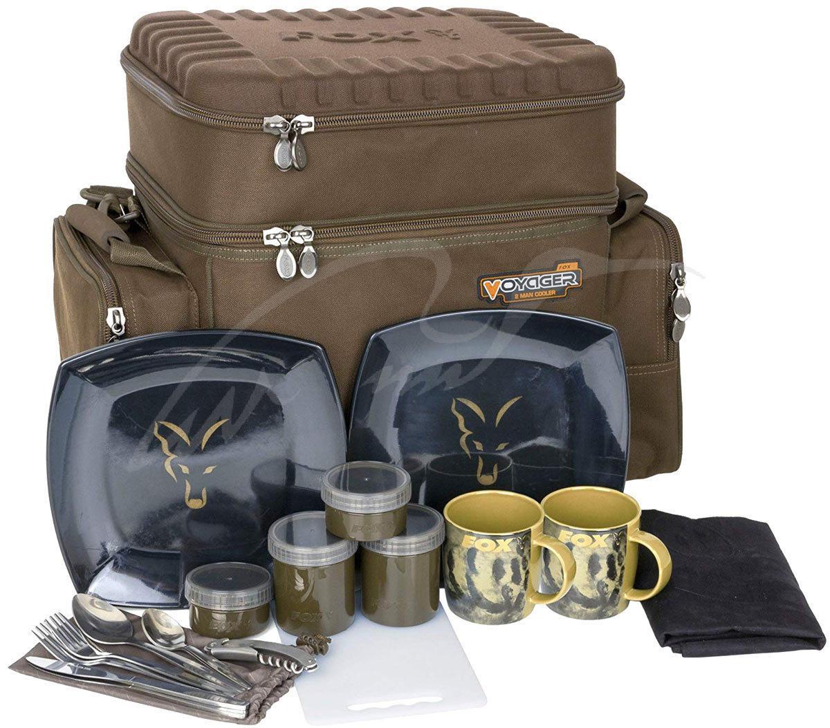 Сумка изотермическая Fox International Voyager Two Man Cooler с набором посуды