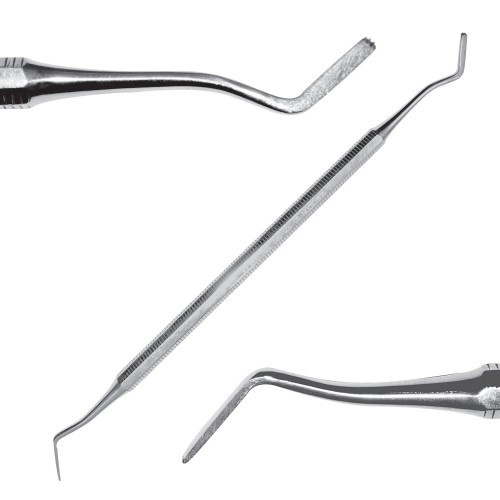 Инструмент для поддесневого применения, штыкообразный/ лопаткообразный с зубчиками, SD-1105-00О Surgicon