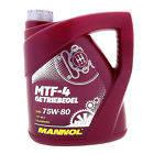 Трансмиссионное синтетическое масло MANNOL MTF-4 Getriebeoel SAE 75W-80 4л