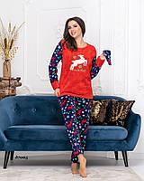 Пижама, мягкая, плюшевая 42.44,46,48,50